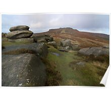 Burbage Moor Towards Higger Tor Poster