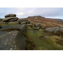 Burbage Moor Towards Higger Tor Photographic Print