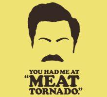 """You Had Me at 'Meat Tornado'."" - Ron Swanson by heavenlygeekdom"