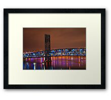 Jax Blue bridge  Framed Print