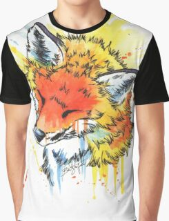 Fox Watercolor Graphic T-Shirt