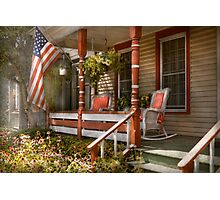 House - Porch - Traditional American Photographic Print