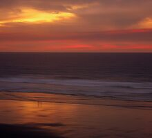 Sunset, Oregon Coast by aussiedi