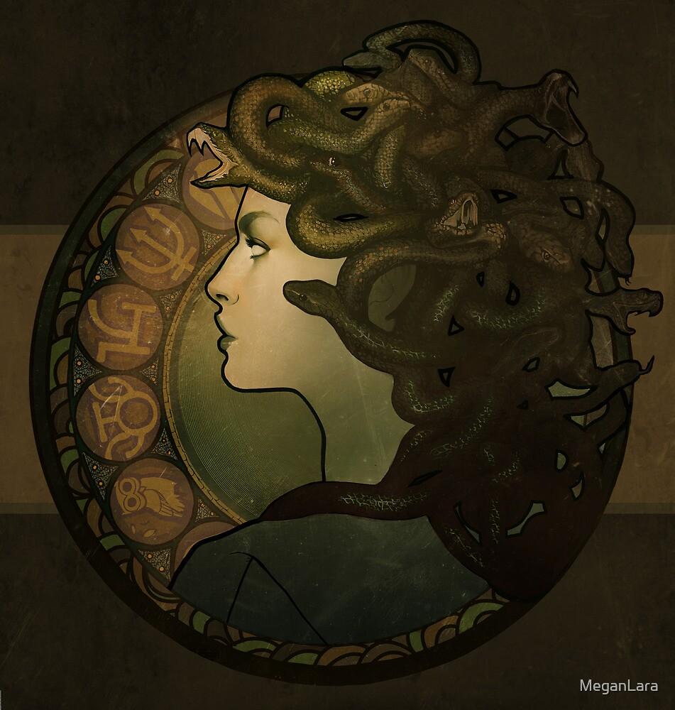 Medusa Nouveau - Print by MeganLara
