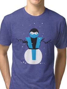 Subzero the Snowman Tri-blend T-Shirt