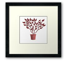 Tree Of Life - Red Framed Print