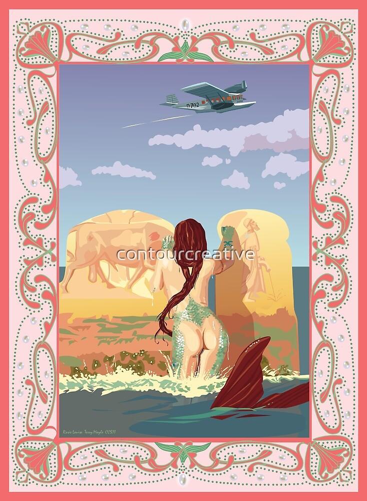 Wet Fresco Mermaid - Diesel Punk by contourcreative