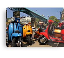 Scarborough National Scooter Rally Metal Print
