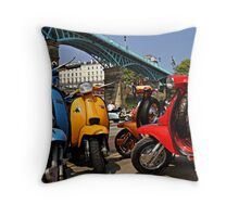 Scarborough National Scooter Rally Throw Pillow