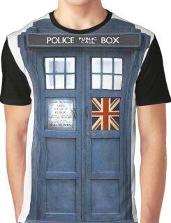 Police Box Union Jack Graphic T-Shirt