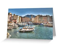 Camogli Port Greeting Card