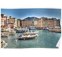 Camogli Port Poster