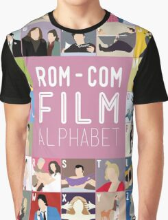 Rom Com Film Alphabet Graphic T-Shirt