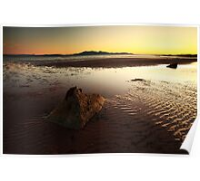 Seamill Sunset Poster