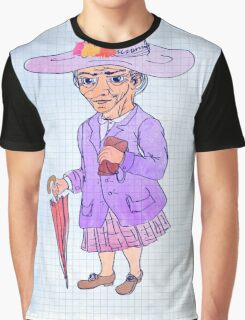 Watercolor illustration of an old woman Graphic T-Shirt