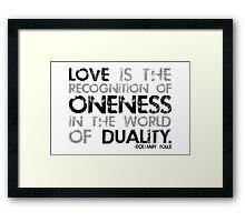 love is. (black & white) Framed Print