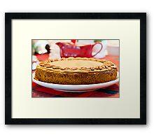 Pumpkin-Pecan Cheesecake Framed Print