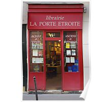 A Paris Bookstore Poster