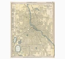Vintage Map of Minneapolis MN (1891) Unisex T-Shirt
