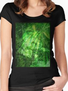 Bob Marley Tribute Poster Women's Fitted Scoop T-Shirt