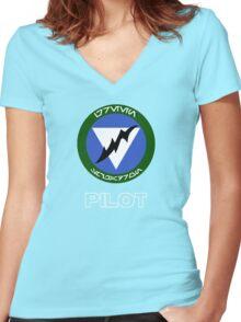 Green Squadron - Star Wars Veteran Series Women's Fitted V-Neck T-Shirt