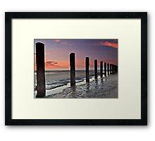Stevenston Beach Dawn Framed Print