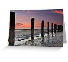 Stevenston Beach Dawn Greeting Card