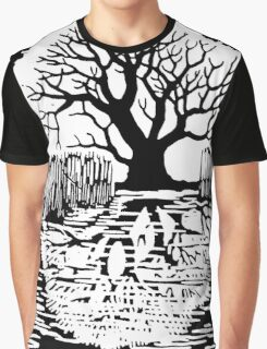Silhouette of a tree | Mirror image  Graphic T-Shirt