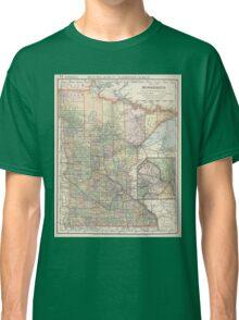 Vintage Map of Minnesota (1891) Classic T-Shirt