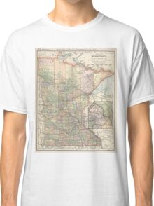 Vintage Map of Minnesota (1891) Classic T-Shirt