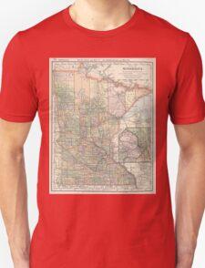 Vintage Map of Minnesota (1891) T-Shirt