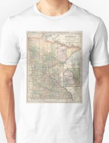 Vintage Map of Minnesota (1891) T-Shirt