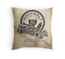 ROCKSALT GARAGE 'N GRILL Poster Throw Pillow