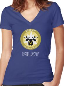 Gold Squadron - Star Wars Veteran Series Women's Fitted V-Neck T-Shirt