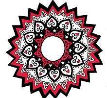 Love & Unity Mandala in Red by Adair Sullivan (Ó Súilleabháin)