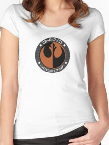 Star Wars Episode VII - Black Squadron (Resistance) - Star Wars Veteran Series Women's Fitted Scoop T-Shirt
