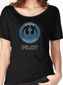 Star Wars Episode VII - Blue Squadron (Resistance) - Star Wars Veteran Series Women's Relaxed Fit T-Shirt