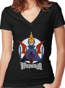 Geek Illuminati Women's Fitted V-Neck T-Shirt