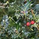 God Jul - Swedish Christmas Card (Holly) by JoAndCoCards