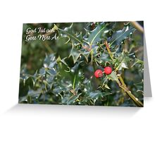 God Jul - Swedish Christmas Card (Holly) Greeting Card