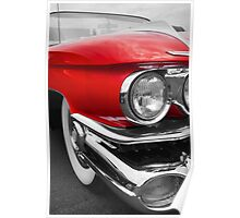 Red and Whitewalls Poster