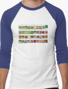 Vegetable seeds pattern Men's Baseball ¾ T-Shirt