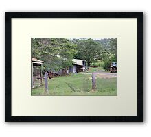 Farm Yard Near Laidley Framed Print