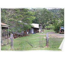 Farm Yard Near Laidley Poster
