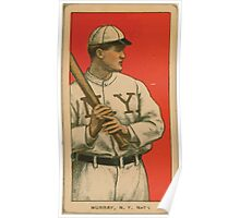 Benjamin K Edwards Collection Red Murray New York Giants baseball card portrait 002 Poster