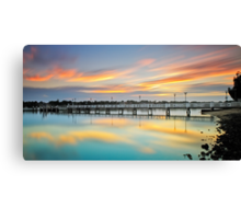 Reflections of a Jetty Canvas Print