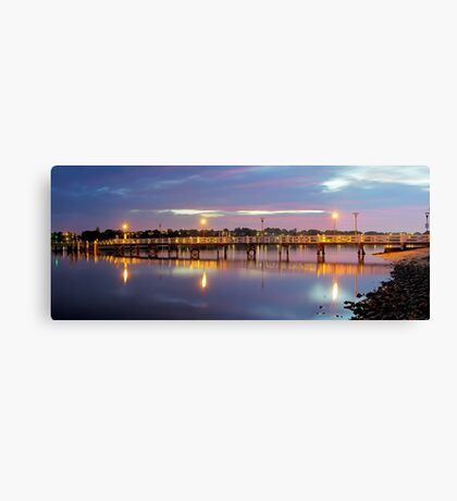 A Jetty Revealed Canvas Print
