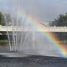 Fountain Rainbow by Rose Landry