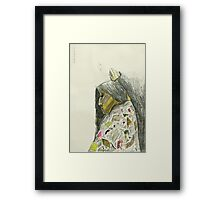 drawing herself Framed Print
