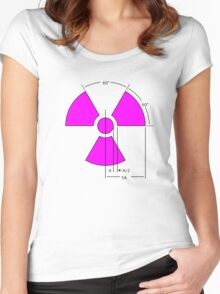 Warning Radiation Sign Template Women's Fitted Scoop T-Shirt